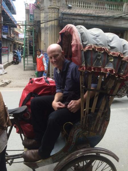 Rickshaw ride in Kathmandu