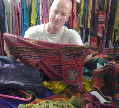 Stephen on a buying trip in Kathmandu