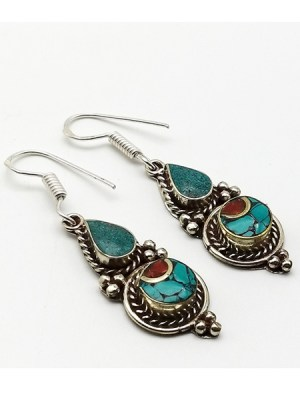Turquoise Beaded Earring