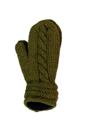 Woolen cable knit mittens from Nepal
