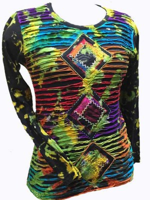 Hippie mudmee tie dye top in multi color
