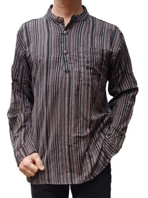 grandad-shirt-brown