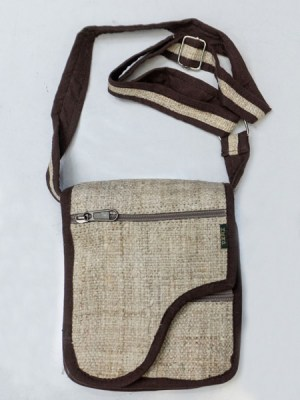 Hemp passport bag