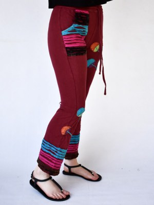 hippy-maroon-pants