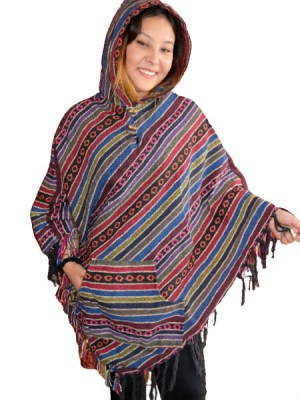 Mexican style hippie poncho for ladies
