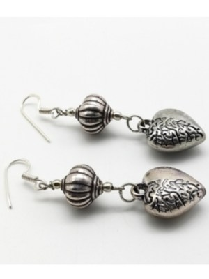 White Metal Earring