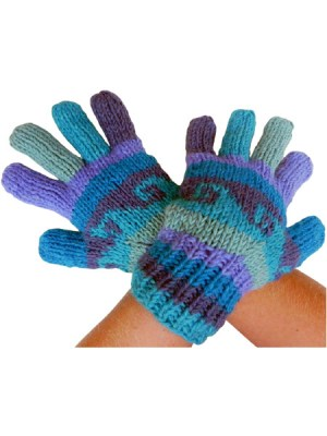 Hand knitted woolen gloves from Nepal