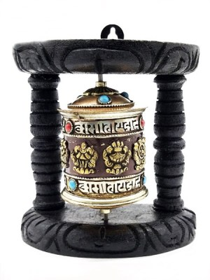 Prayer Wheel Wood Stand
