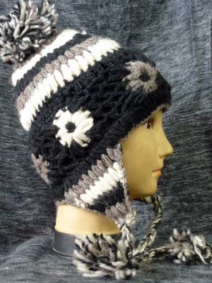 Sherpa hats in natural colors