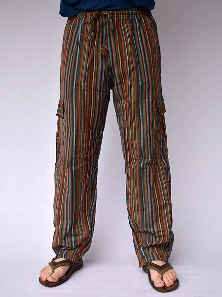 Pantalon Cargo Rayas Pantalones Al Por Mayor Handmades Del Himalaya